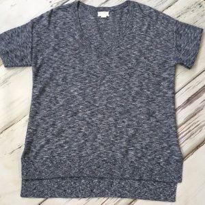 Caslon Nordstrom short sleeve t-shirt top blue